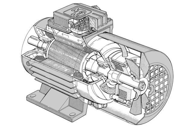 Электромотор со встроенным тормозом