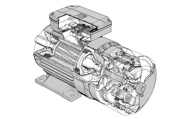 мотор с электромагнитным тормозом